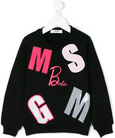 MSGM logo patch sweatshirt - kids - Cotton - 10 yrs