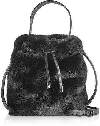 Karl Lagerfeld Paris Carine X Fur Bucket Bag