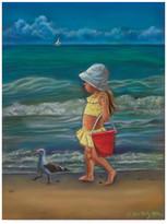 """Trademark Fine Art Tricia Reilly-Matthews 'Meet Me At The Beach' Canvas Art, 24""""x18"""""""