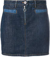 Courreges zipped denim skirt