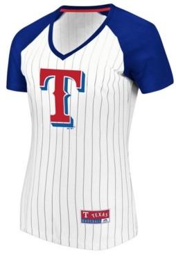 Majestic Women's Texas Rangers Every Aspect Pinstripe T-Shirt