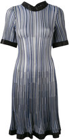 Sonia Rykiel pleated fitted dress - women - Silk/Viscose - M