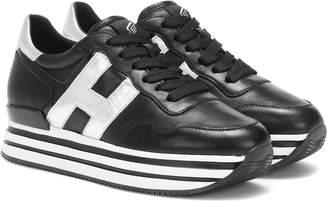 Hogan H222 leather flatform sneakers