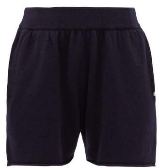 Extreme Cashmere - No. 29 Stretch-cashmere Track Shorts - Womens - Navy