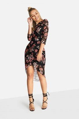 Little Mistress Girls on Film Ely Dress In Floral Lace