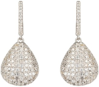 Latelita Valerie Pear Drop Gemstone Earrings Silver White Cz