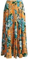 Diane von Furstenberg Bournier floral-print silk-crepe maxi skirt