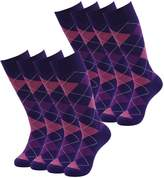 SUTTOS Men's Crazy Wonder Fun Charged Cotton Blend Warm Soft Breathable Big & Tall Bicycle Long Tube Crew Boot Socks,2 Pairs