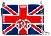 DSQUARED2 medium Union Jack DD crossbody bag - women - Patent Leather/Calf Suede - One Size