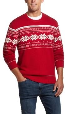 Weatherproof Vintage Men's Snowflake Crew Neck Sweater