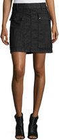 Frame Le Mini A-Line Broome Street Skirt, Black