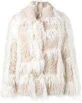Helmut Lang - faux fur cropped coat