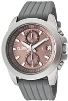 A Line a_line Women's 80010-014-GY Aroha Chronograph Silver Grey Dial Grey Silicone Watch