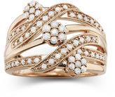 JCPenney FINE JEWELRY diamond blossom 1/2 CT. T.W. Diamond Cluster Orbit Ring