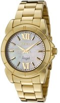 Invicta Women's 0460 Angel Collection 18k Gold-Plated Stainless Steel Mother-of-Pearl Watch