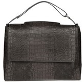 Orciani Women's Grey Leather Shoulder Bag.