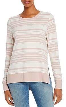 Andrew Marc Striped Lightweight Sweatshirt