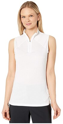 Puma Daily Mock Neck (Bright White) Women's Clothing