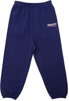 Balenciaga LOGO PRINT COTTON SWEATPANTS