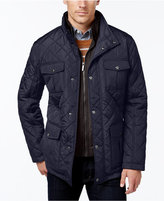 London Fog Men's Corduroy-Trim Layered Quilted Jacket