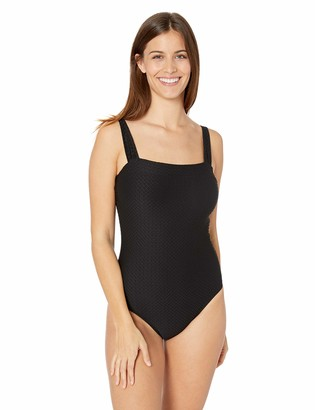 Athena Women's Body Compression Square Neck One Piece Swimsuit