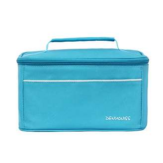 Local Makes A Comeback Simple and Stylish Waterproof Oxford Lunch Bag for Beach Food/Picnic/Camping/Grill (Blue)
