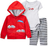 Buster Brown Red Racecar Bodysuit Set - Infant