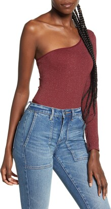Urban Outfitters BDG BDG Urban Outfittters One-Shoulder Long Sleeve Thong Bodysuit