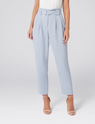 Forever New Jessabelle Petite Tie Waist Pants - Swift Sea - 12
