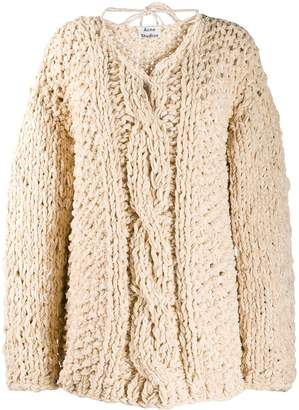 Acne Studios chunky cable-knit jumper