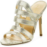 Ivanka Trump Hullen Caged Leather Sandal, Gold