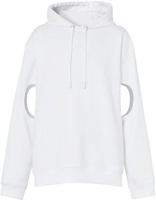 Burberry cut-out sleeves Globe print hoodie