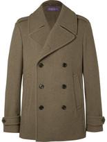 Ralph Lauren Purple Label Warrington Felted Wool Peacoat - Army green