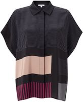 Jigsaw Block Stripe Blouse