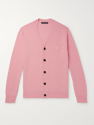 Acne Studios Logo-Appliqued Wool Cardigan
