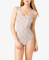 Forever 21 Sheer Lace Bodysuit