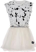 Nununu Paint-Splatter-Print Cotton & Tulle Dress