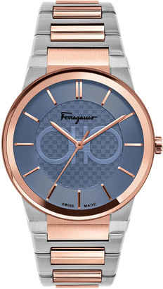 Salvatore Ferragamo Men's 41mm Two-Tone Bracelet Watch