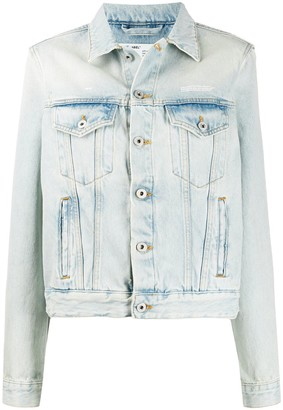 Off-White Bleached Boxy Denim Jacket