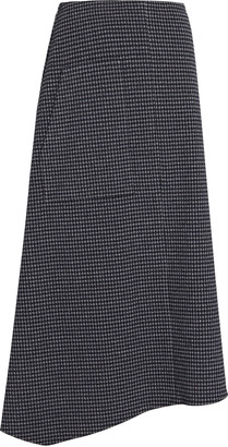 Tibi Camille Checked Origami Midi Skirt