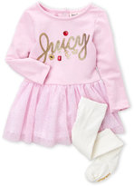 Juicy Couture Infant Girls) Two-Piece Glitter Tulle Dress & Tights Set