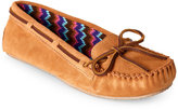Minnetonka Cinnamon Cally Sweater-Lined Moccasin Slippers