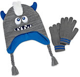 Asstd National Brand Mohawk Monster Hat & Glove Set - Boys 8-20