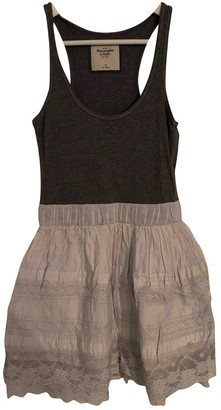 Abercrombie & Fitch Grey Cotton - elasthane Dress for Women