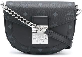 MCM Logo Print Chain Strap Bag