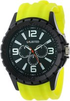 Unlisted by Kenneth Cole UL1242 Green Yellow Silicone Men's Watch