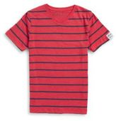Buffalo David Bitton Boys Striped V-Neck Tee