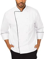 Dickies Chef Men's Unisex Executive Coat with Fluid Barrier with Piping