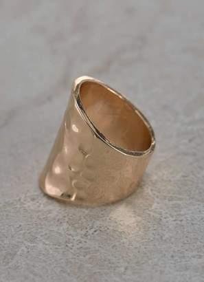 Mint Velvet Gold Tone Hammered Ring
