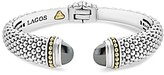 Lagos 18K Gold and Sterling Silver Caviar Color Hematite Cuff Bracelet, 12mm